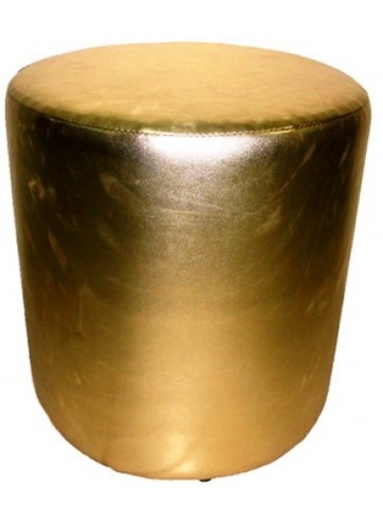 Puff Individual Dourado 0,43x0,46