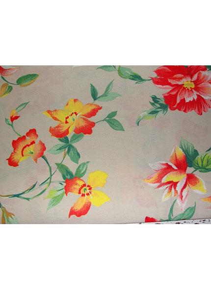 Toalha 1,50X1,50 Floral Amarelo Verão