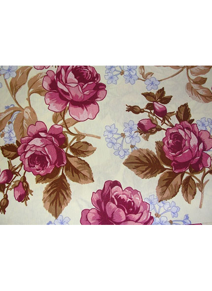 Toalha 1,50X1,50 Floral Rosa Verão