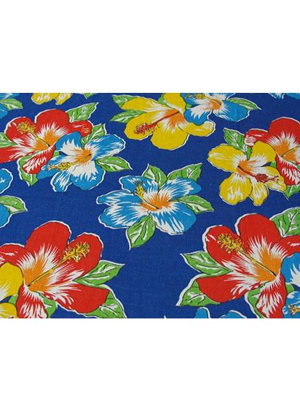 Toalha 1,50X1,50 Chita Floral Azul