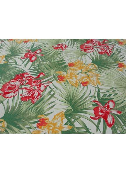 Toalha 1,50X1,50 Floral Verde/Vermelho