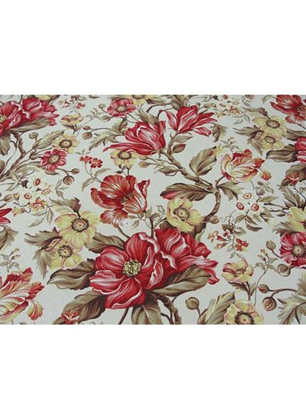 Toalha 1,50X1,50 Floral Vermelho