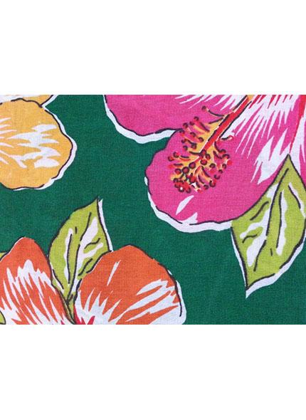 Toalha 1,50X1,50 Chita Floral Verde