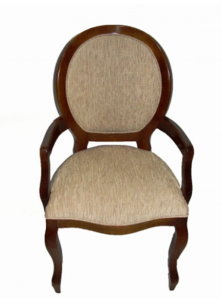 Cadeira Medalhão Imbuia Madeira c/braço