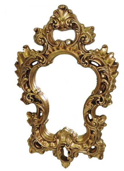 Espelho Dourado Rococo M 0,72X0,48