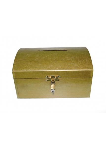 Urna Baú Dourado 0,30x0,23x0,17