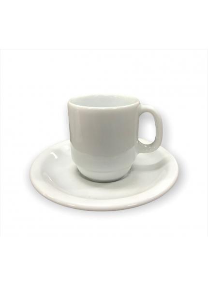 Xícara Cafezinho Porcelana c/Pires