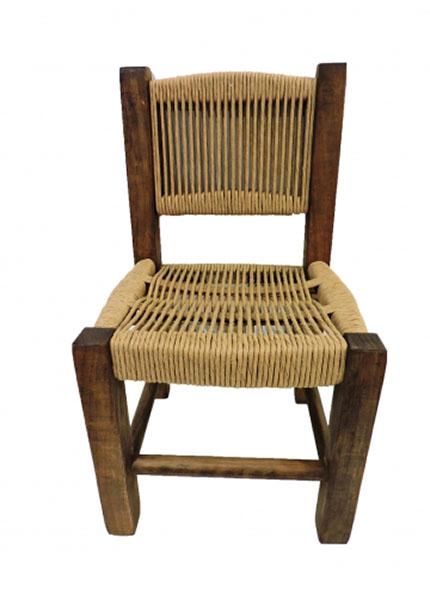 Cadeira Infantil Rústica Kraft em Madeira