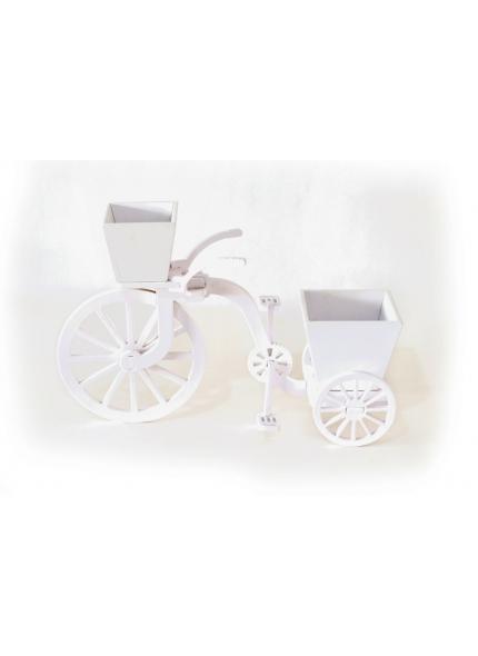 Bicicleta Cachepo Branco 0,37x0,24