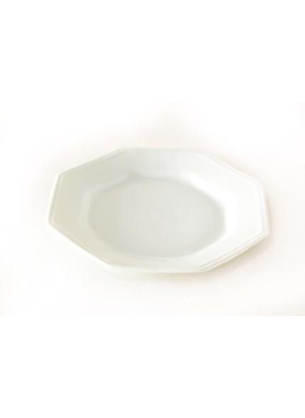 Prato Sobremesa Porcelana Oitavado