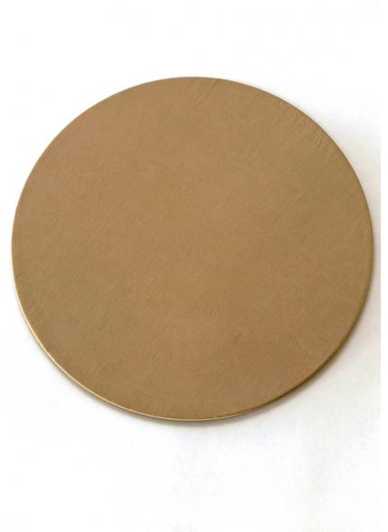 Sousplat Redondo c/ Tecido Dourado 33cm