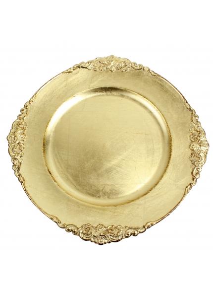 Sousplat Redondo  Dourado 35cm