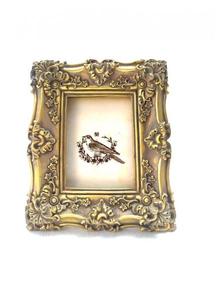 Marcador Mesa Dourado Resina 0,15X0,12